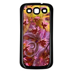 Falling Autumn Leaves Samsung Galaxy S3 Back Case (black) by Contest2489503