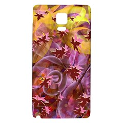 Falling Autumn Leaves Galaxy Note 4 Back Case by Contest2489503