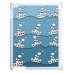 Boats Apple iPad 2 Case (White) by Valentinaart
