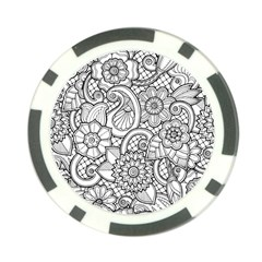 These Flowers Need Colour! Poker Chip Card Guards by Zeze