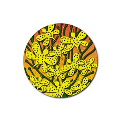 Bees Rubber Coaster (Round)  by Valentinaart