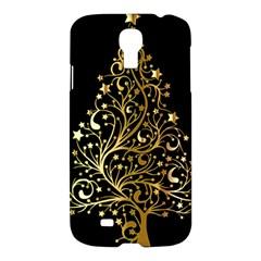 Decorative Starry Christmas Tree Black Gold Elegant Stylish Chic Golden Stars Samsung Galaxy S4 I9500/i9505 Hardshell Case by yoursparklingshop