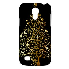 Decorative Starry Christmas Tree Black Gold Elegant Stylish Chic Golden Stars Galaxy S4 Mini by yoursparklingshop