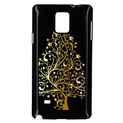 Decorative Starry Christmas Tree Black Gold Elegant Stylish Chic Golden Stars Samsung Galaxy Note 4 Case (black) by yoursparklingshop