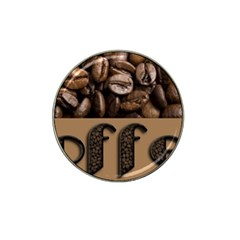 Funny Coffee Beans Brown Typography Hat Clip Ball Marker by yoursparklingshop