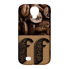 Funny Coffee Beans Brown Typography Samsung Galaxy S4 Classic Hardshell Case (pc+silicone) by yoursparklingshop