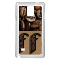 Funny Coffee Beans Brown Typography Samsung Galaxy Note 4 Case (White) by yoursparklingshop