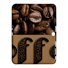 Funny Coffee Beans Brown Typography Samsung Galaxy Tab 4 (10 1 ) Hardshell Case  by yoursparklingshop