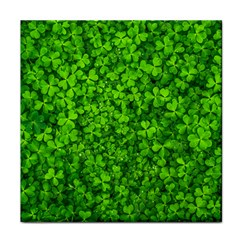 Shamrock Clovers Green Irish St  Patrick Ireland Good Luck Symbol 8000 Sv Face Towel by yoursparklingshop