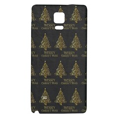 Merry Christmas Tree Typography Black And Gold Festive Galaxy Note 4 Back Case by yoursparklingshop