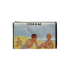 Vintage Summer Sunscreen Advertisement Cosmetic Bag (small)  by yoursparklingshop