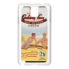 Vintage Summer Sunscreen Advertisement Samsung Galaxy Note 3 N9005 Case (white) by yoursparklingshop