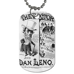 Vintage Song Sheet Lyrics Black White Typography Dog Tag (two Sides) by yoursparklingshop