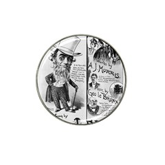 Vintage Song Sheet Lyrics Black White Typography Hat Clip Ball Marker (4 Pack) by yoursparklingshop