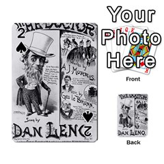 Vintage Song Sheet Lyrics Black White Typography Playing Cards 54 Designs  by yoursparklingshop