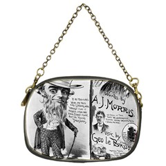 Vintage Song Sheet Lyrics Black White Typography Chain Purses (one Side)  by yoursparklingshop