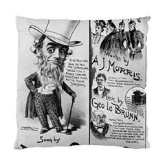 Vintage Song Sheet Lyrics Black White Typography Standard Cushion Case (two Sides) by yoursparklingshop