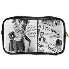 Vintage Song Sheet Lyrics Black White Typography Toiletries Bags by yoursparklingshop