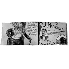 Vintage Song Sheet Lyrics Black White Typography Body Pillow Case Dakimakura (two Sides) by yoursparklingshop
