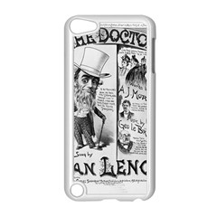 Vintage Song Sheet Lyrics Black White Typography Apple Ipod Touch 5 Case (white) by yoursparklingshop