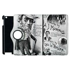Vintage Song Sheet Lyrics Black White Typography Apple Ipad 3/4 Flip 360 Case by yoursparklingshop