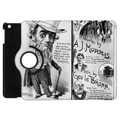 Vintage Song Sheet Lyrics Black White Typography Apple Ipad Mini Flip 360 Case by yoursparklingshop