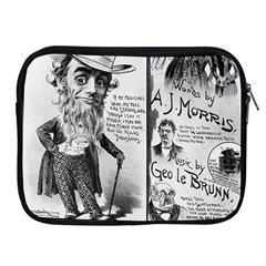 Vintage Song Sheet Lyrics Black White Typography Apple Ipad 2/3/4 Zipper Cases by yoursparklingshop