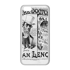 Vintage Song Sheet Lyrics Black White Typography Apple Iphone 5c Seamless Case (white) by yoursparklingshop