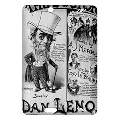 Vintage Song Sheet Lyrics Black White Typography Amazon Kindle Fire Hd (2013) Hardshell Case by yoursparklingshop