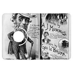 Vintage Song Sheet Lyrics Black White Typography Kindle Fire Hdx Flip 360 Case by yoursparklingshop