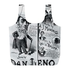 Vintage Song Sheet Lyrics Black White Typography Full Print Recycle Bags (l)  by yoursparklingshop