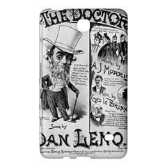 Vintage Song Sheet Lyrics Black White Typography Samsung Galaxy Tab 4 (7 ) Hardshell Case  by yoursparklingshop
