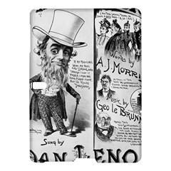 Vintage Song Sheet Lyrics Black White Typography Samsung Galaxy Tab S (10 5 ) Hardshell Case  by yoursparklingshop