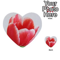 Tulip Red Watercolor Painting Multi Purpose Cards (heart)  by picsaspassion