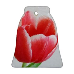 Tulip Red Watercolor Painting Ornament (bell)  by picsaspassion