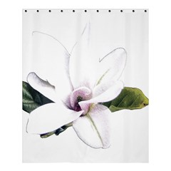White Magnolia Pencil Drawing Art Shower Curtain 60  X 72  (medium)  by picsaspassion