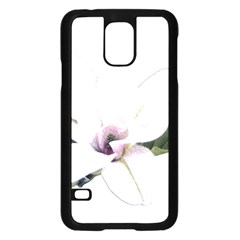 White Magnolia Pencil Drawing Art Samsung Galaxy S5 Case (black) by picsaspassion
