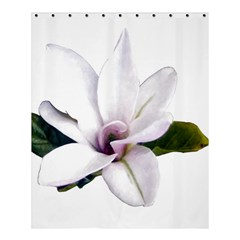Magnolia Wit Aquarel Painting Art Shower Curtain 60  X 72  (medium)  by picsaspassion