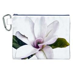 Magnolia Wit Aquarel Painting Art Canvas Cosmetic Bag (xxl) by picsaspassion