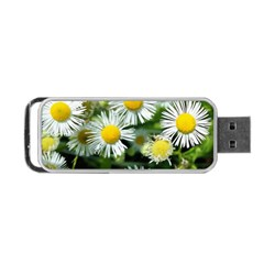 White summer flowers oil painting art Portable USB Flash (Two Sides) by picsaspassion