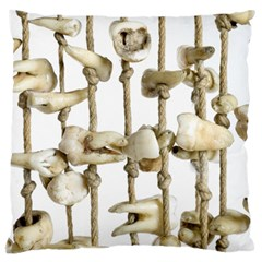 Hanging Human Teeth Dentist Funny Dream Catcher Dental Large Cushion Case (two Sides) by yoursparklingshop