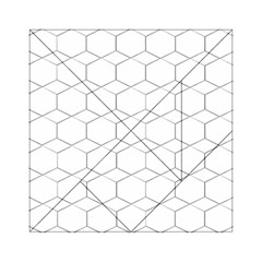 Honeycomb   Diamond Black And White Pattern Acrylic Tangram Puzzle (6  X 6 ) by picsaspassion