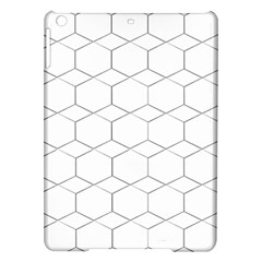 Honeycomb   Diamond Black And White Pattern Ipad Air Hardshell Cases by picsaspassion