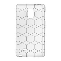 honeycomb - diamond black and white pattern Galaxy Note Edge by picsaspassion