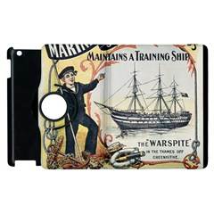 Vintage Advertisement British Navy Marine Typography Apple iPad 3/4 Flip 360 Case by yoursparklingshop