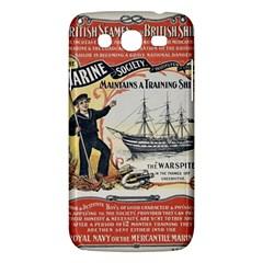 Vintage Advertisement British Navy Marine Typography Samsung Galaxy Mega 5 8 I9152 Hardshell Case  by yoursparklingshop