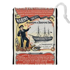 Vintage Advertisement British Navy Marine Typography Drawstring Pouches (xxl) by yoursparklingshop