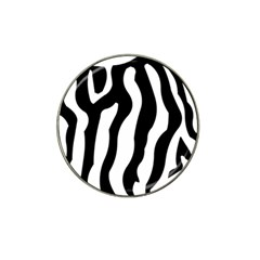 Zebra Horse Skin Pattern Black And White Hat Clip Ball Marker (10 Pack) by picsaspassion