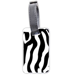 Zebra horse skin pattern black and white Luggage Tags (One Side)  by picsaspassion