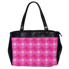 Pink Sweet Number 16 Diamonds Geometric Pattern Office Handbags (2 Sides)  by yoursparklingshop